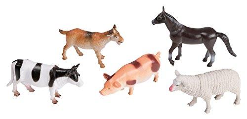 Idena 4329903 - Spielfigurenset mit 5 Farmtieren, aus Kunststoff,...