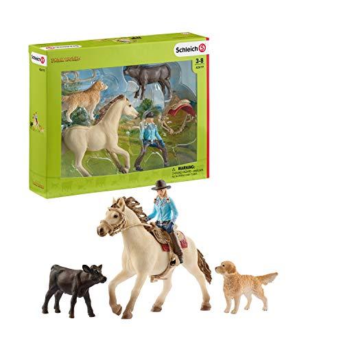 Schleich 42419 Farm World Spielset - Westernreiten, Spielzeug ab 3...