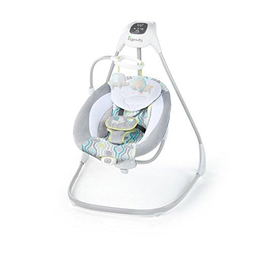 Ingenuity, Everston Babyschaukel, 180° drehbar, 3 Schaukelrichtungen und 6 -geschwindigkeiten, spielt 11...