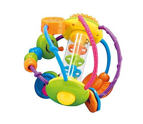 Bieco Motorikball für Babys ab 6 Monate | Greifball und Beißring mit...