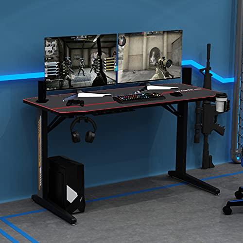 sogesfurniture Gaming Tisch Ergonomisch Gaming Schreibtisch Großer...