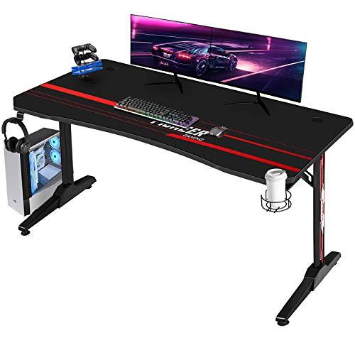 Devoko Gaiming Tisch Gaming Schreibtisch Gamer Computertisch...