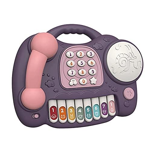 Tkdncbec Baby Klavier Spielzeug Tastatur Vorgeben Telefonanruf Trommel...
