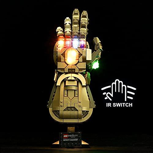HYCH LED Licht-Set für Lego Marvel Super Heroes Infinity Handschuh...