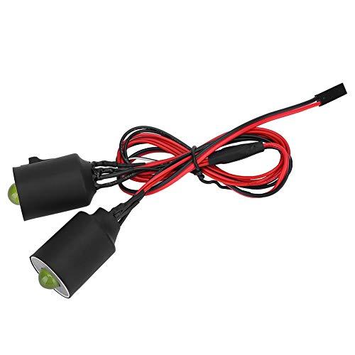 VGEBY 1/10 RC Scheinwerfer, 22 mm volle Lumineszenz Maßstab 1:10 Fernbedienung Auto Hellster LED-Scheinwerfer...
