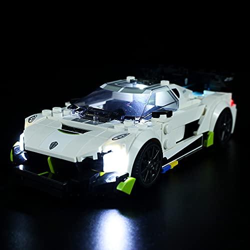 QXQY Led Beleuchtungsset für Lego 76900 Speed Champions Koenigsegg...