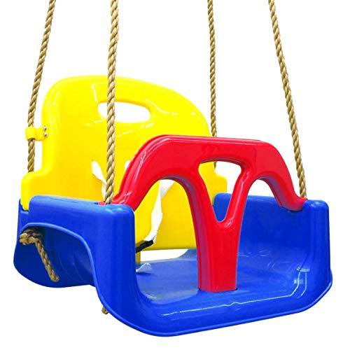 LittleTom 3-in-1 Kinderschaukel Baby Garten Schaukel 40x43x33cm Indoor Outdoor 6-72 M Rot-Blau