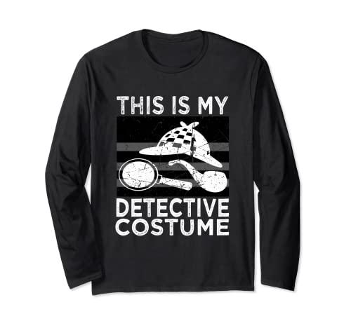 Detektiv-Kostüm, Hemd für Herren, Damen, Kinder Langarmshirt