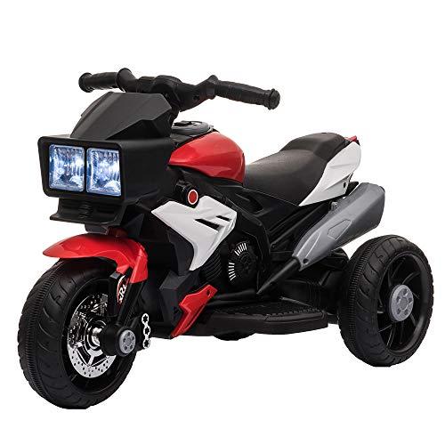 HOMCOM Elektrofahrzeug Kindermotorrad Kinderfahrzeug mit Musik und...