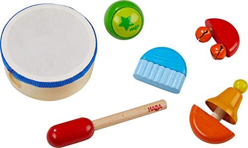 HABA 304852 - Klangspiel-Set, 6-teiliges Set aus Musikinstrumenten...