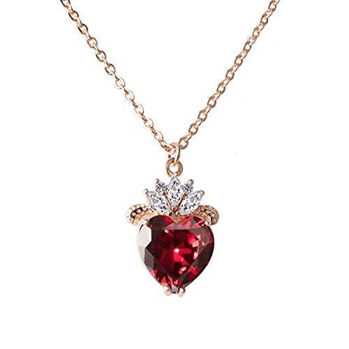 hengkaixuan Halskette mit Herzkönigin Evie-Kostüm, Nachkommende,...