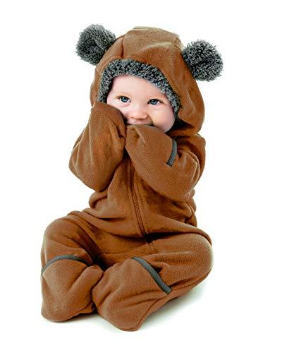 Cuddle Club Baby Erstausstattung aus Fleece Baby Body für Neugeborene bis 4 Jahren – Baby Strampler –...