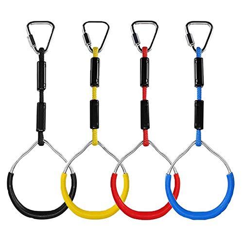 4 Stück Klettern Ringe für Kinder, Outdoor Indoor Kinder Ninja Ringe...