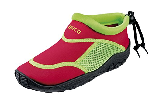 BECO Badeschuhe / Surfschuhe für Kinder rot/grün 22