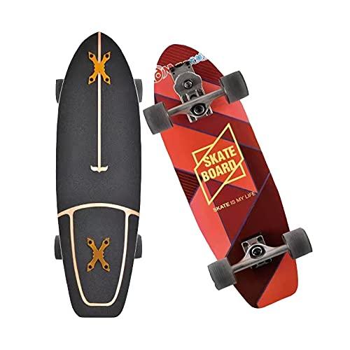 GUANGE Skateboard Cruiser Funboard Komplettes Skateboard Longboards...