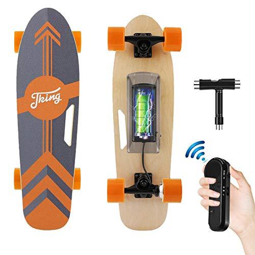 Tooluck Elektrisches Skateboard mit kabelloser Fernbedienung, 20 km/h...