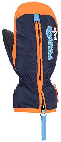 Reusch Baby Ben Mitten Handschuhe, Dress Blue/Orange Popsicle, I