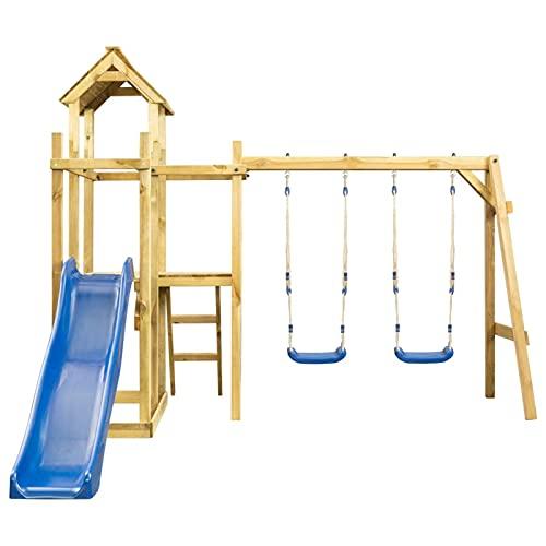 Ksodgun Spielturm mit Rutsche Schaukel Leiter mit Kletterwand Schaukel...