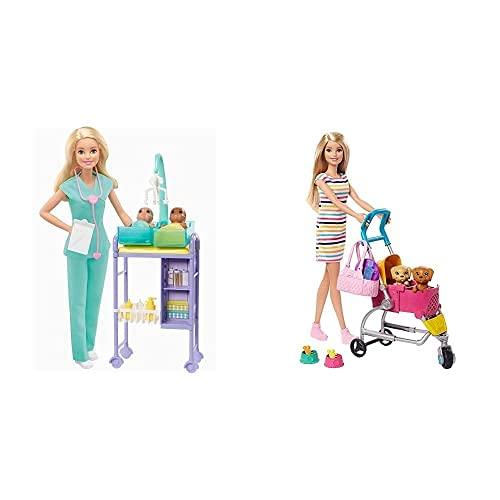 Barbie GKH23 - Kinderärztin Puppe (blond) und Spielset mit...