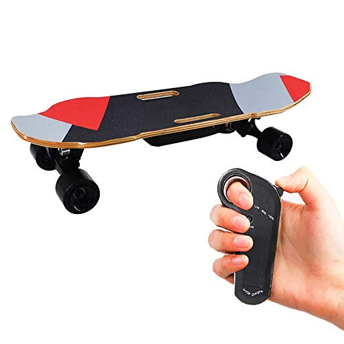 FGKING Elektro-Skateboard, Mini Electric Cruiser Skateboard, Maple Elektro-Skateboards Fahrt wie Longboards.