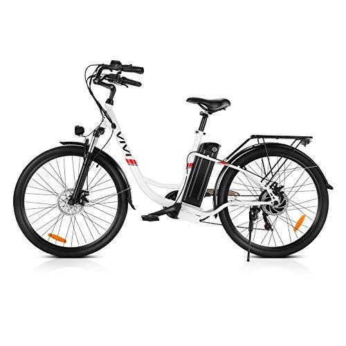 VIVI Ebike 26 Zoll Elektrofahrrad Damen, 250W Pedelec Citybike-mit 36V...