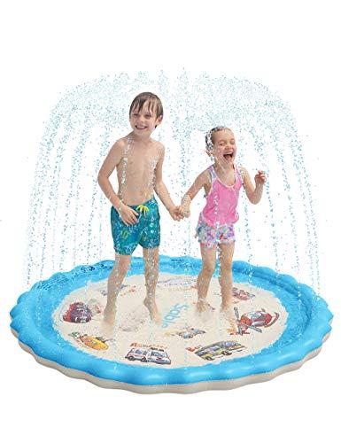 Sable Wasserspielzeug Garten Wasserspielmatte 170cm Splash Pad Sprinkler Kinder Play Matte Spielmatte Sommer...