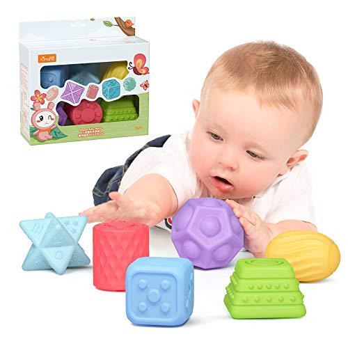 TUMAMA Baby Spielzeug ab 0 6 Monate , Weiche Baby Bälle Kleinkinder Beißring, Spielzeug für Kinder...