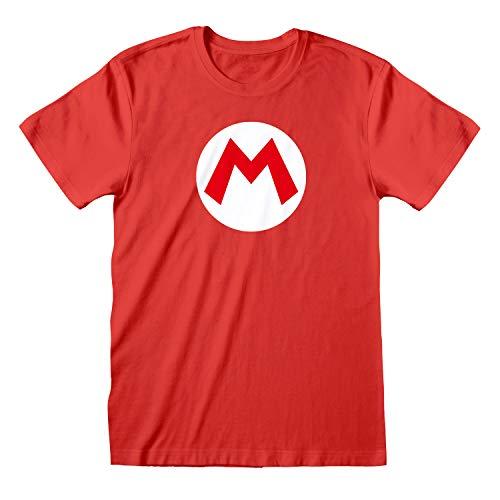 Super Mario - Badge (2XL, Rot)