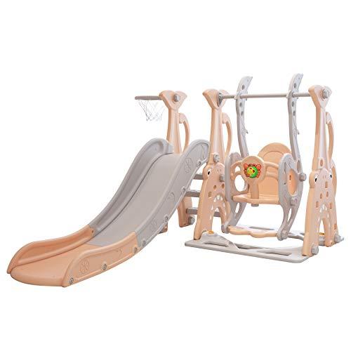 Clarmaro 'Crazy Zoo' 3in1 Kinder Spielplatz mit 165 cm Rutsche,...