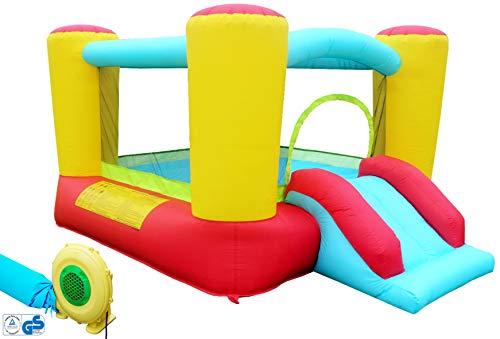 Hüpfburg Kinder Indoor und Outdoor mit Gebläse XL Jump House...
