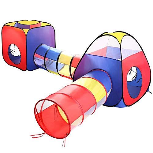 ANAGRE Kinderzelt 4 in 1, Kinder Spielzelt Faltbar...