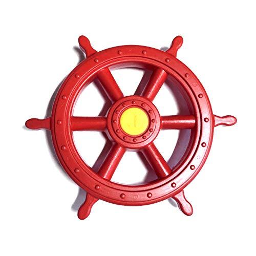 1 Stück h2i Steuerrad Schiffsruder Lenkrad beweglich in Rot für...