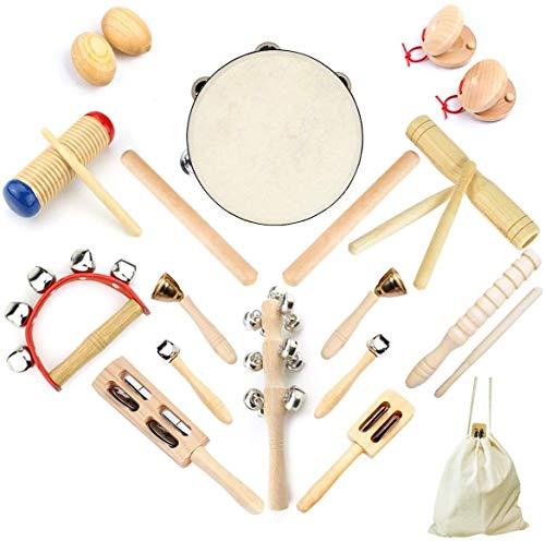 Ulifeme 23 Stück Musikinstrumente Set, Musical Instruments Holz...