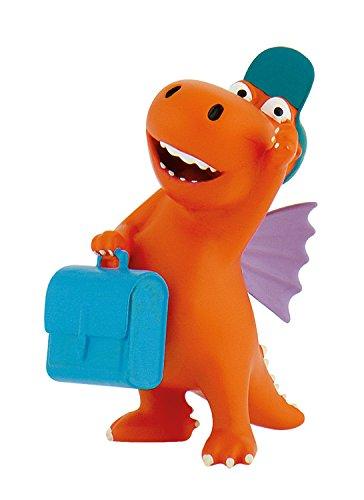 Bullyland 44053 - Spielfigur, kleiner Drache Kokosnuss mit Tasche, ca. 6 cm, bunt