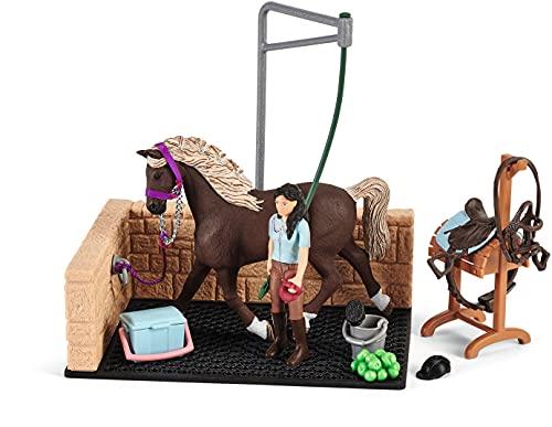 SCHLEICH 42438 Spielset - Waschplatz mit Horse Club Emily & Luna...