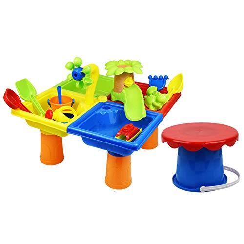 AUTUUCKEE 25-teiliges Sandspielzeug-Set, Sandkasten-Spielzeug,...