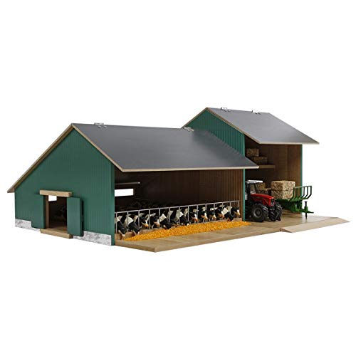 Van Manen Kids Globe Farming Kuhstall mit Werkstatt - aus Holz,...