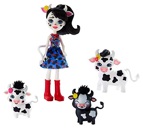 Enchantimals GJX44 - Familien Spielset, Cambrie Cow Puppe mit Kuh...
