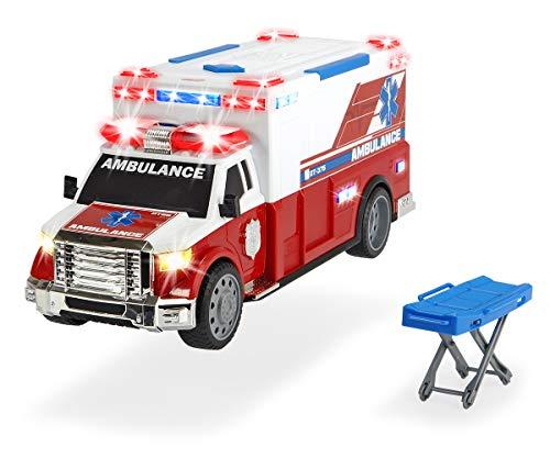 Dickie Toys Ambulanzfahrzeug, Rettungswagen, motor. Spielzeugauto mit...