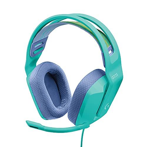 Logitech G335 Kabelgebundenes Gaming-Headset, Flip-to-Mute-Mikrofon,...
