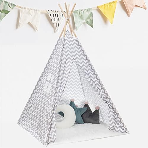 KNECKES Premium Tipi Zelt für Kinder (110 x 110 x 170cm / für 1-3...
