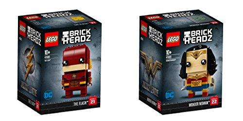 LEGO BrickHeadz 2er Set: 41598 The Flash + 41599 Wonder Woman