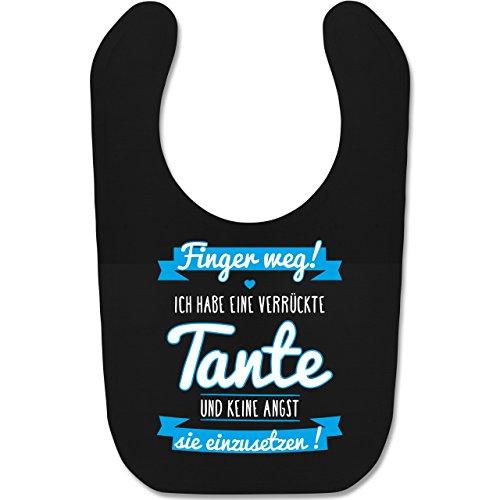 Shirtracer Sprüche Baby - Ich habe eine verrückte Tante Blau - Unisize - Schwarz - geschenke zur taufe -...