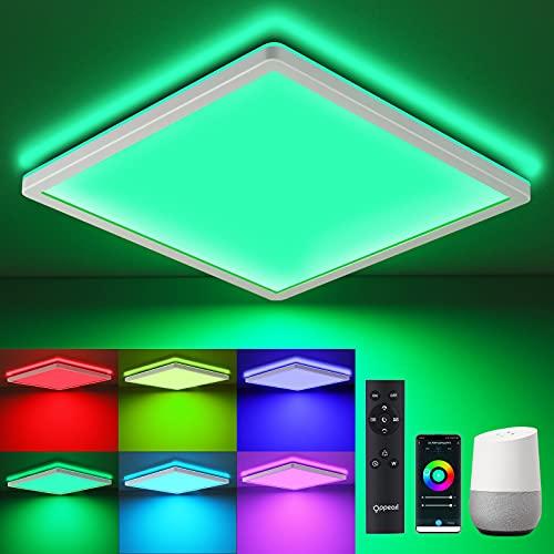 LED Deckenleuchte mit Fernbedienung WIFI, 18W OPPEARL Flache...