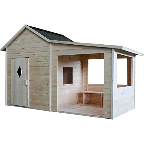 SOULET Spielhaus Igor mit Anbau (Gartenhütte, Holzhaus,...