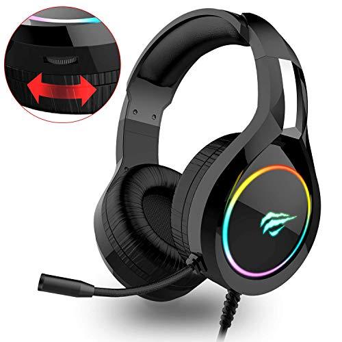 HAVIT Headset für PS4, RGB Gaming Headset für PC, Xbox One, Laptop, mit Surround Sound 50MM Treiber und...