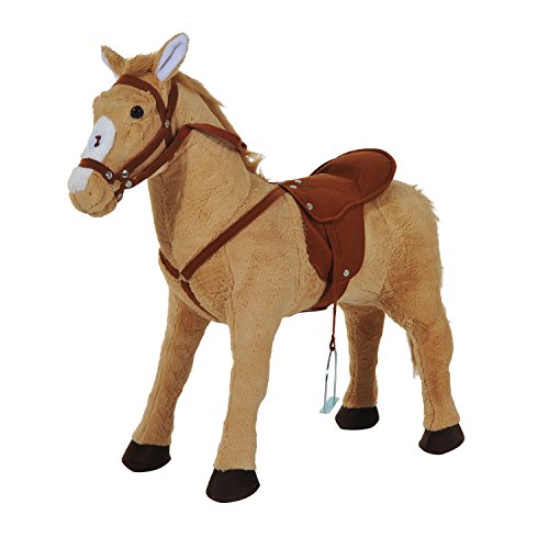 HOMCOM Reitpferd Spielpferd Plüschpferd Spielpferd für Kinder...