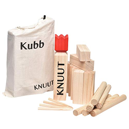 Toyfel Knuut Original Kubb Spiel XXL - FSC® Holzspiel...