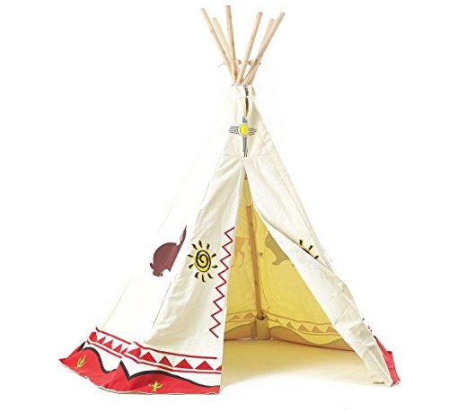Tipi Spielzelt für Kinder Wigwam Spiel-Zelt Indianerzelt Indianer,...