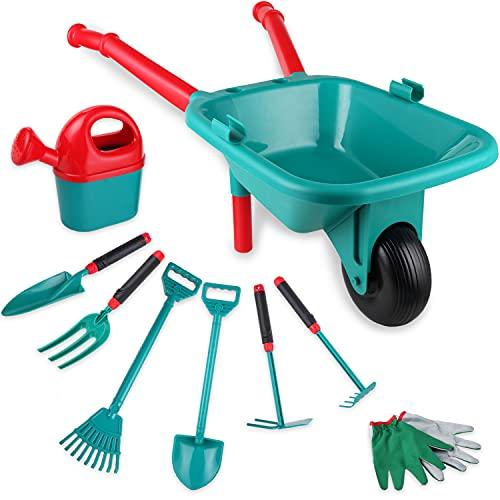 Genround Kids Schubkarre Gartensets, Outdoor-Gartenspielzeug-Kits für...